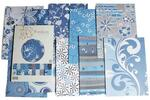 Design papir I blok Blue flower