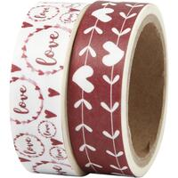 Washi tape LOVE + hjerter