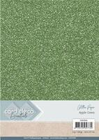 Glitter karton A4 Apple green