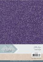 Glitter karton A4 Dark Purple